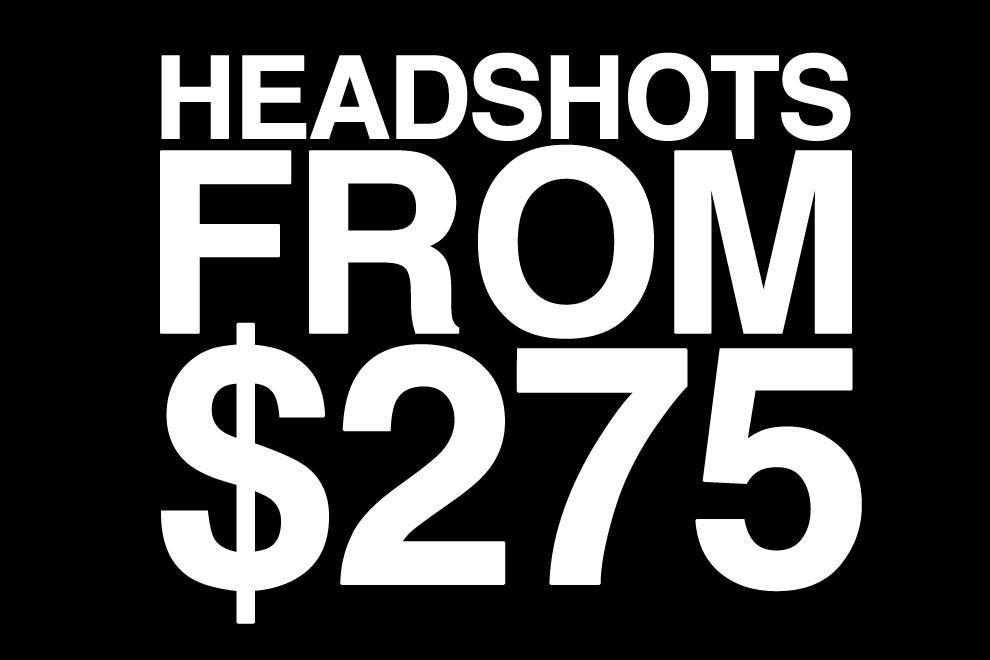 Headshots from $275