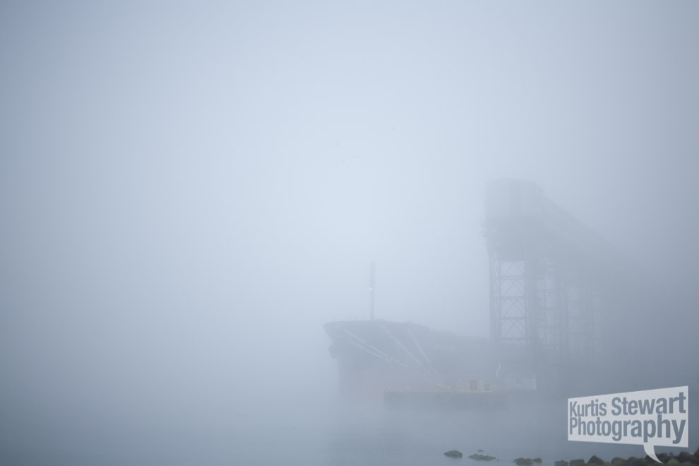 kurtis stewart fog walk container ship