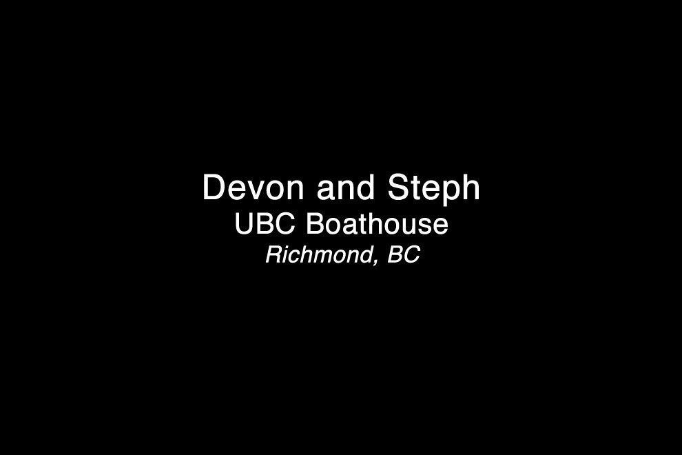 Devon and Steph UBC Boathouse Wedding