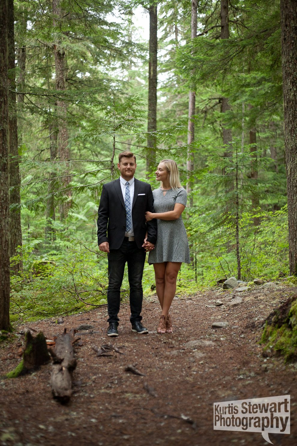 Whistler Engagement Photoshoot in the Forest
